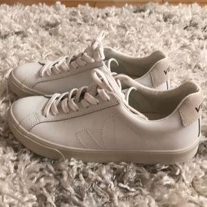 All white Vega sneakers. Never worn.